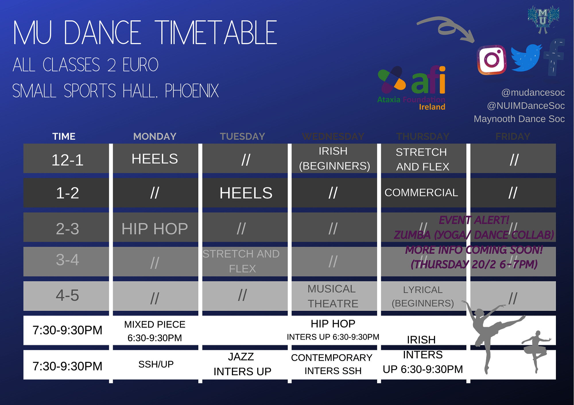 Weekly Timetable (17th-21st of Feb)