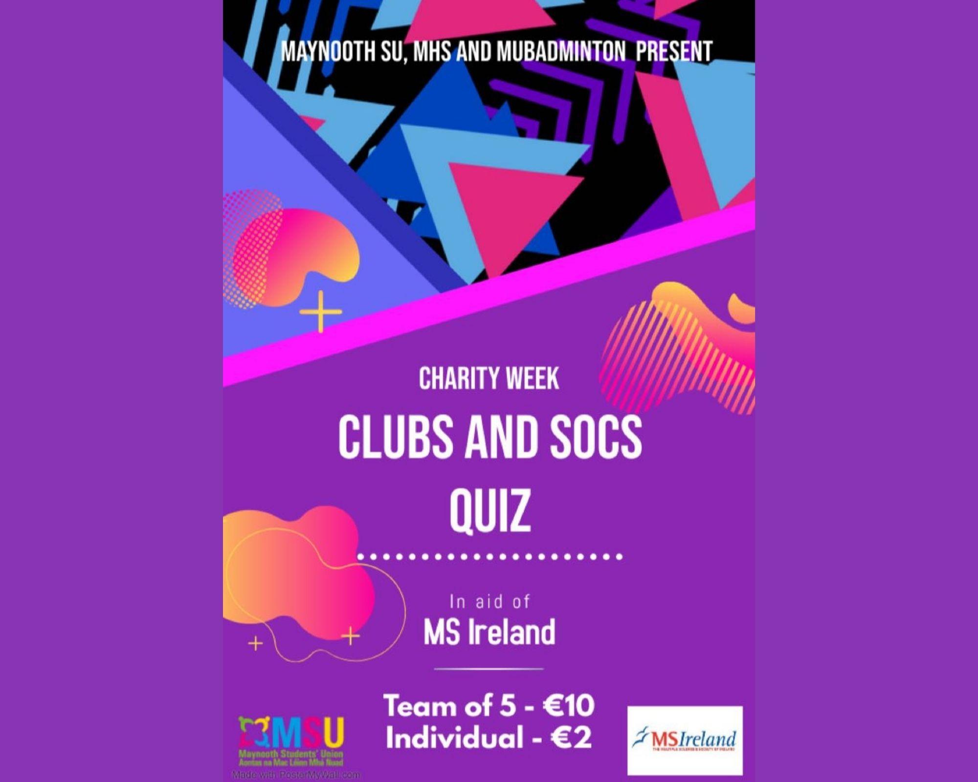 Clubs and Socs Quiz