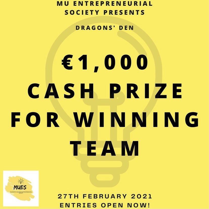 Dragons' Den Winner - Cash Prize €1,000!