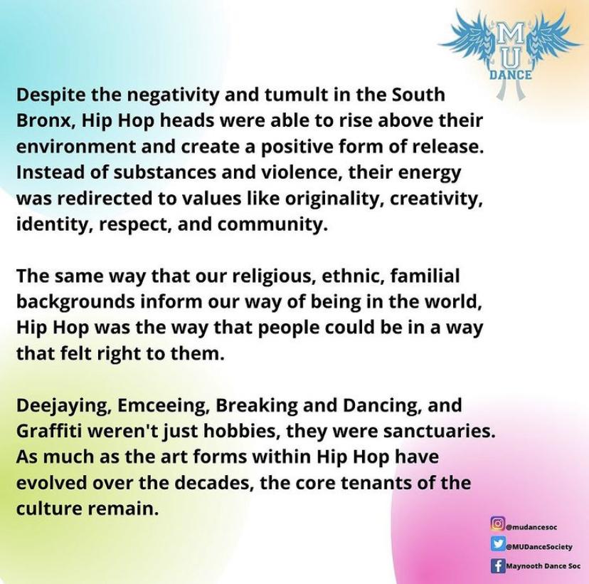 DIVERSITY WEEK HISTORY OF HIP HOP DANCE
